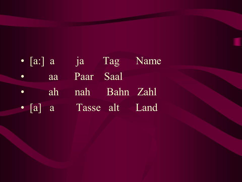 [a:] a ja Tag Name aa Paar Saal.